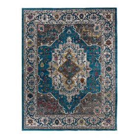 Brea Area Rug in Byrne Blue, Assorted Sizes