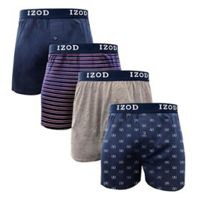 IZOD Men's 4-Pk Knit Boxer
