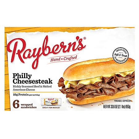 Raybern's Philly Cheesesteak, Frozen (6 ct.)