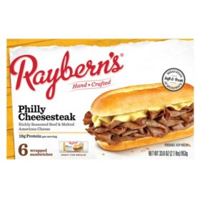 Raybern's Philly Cheesesteak, Frozen (6 ct.)