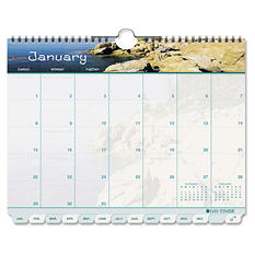 "Day-Timer Coastlines Tabbed 12-Month Wirebound Wall Calendar, 11"" x 8 1/2"", 2018"