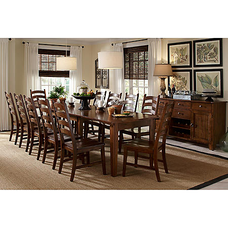 Scarlett Solid Wood Dining Set (Assorted Sizes)
