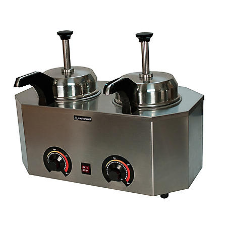 Paragon Pro-Deluxe Dual Unit and Dual Heated Spout Pump Warmer