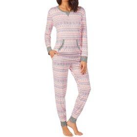 Cuddl Duds Ladies 2 Piece Brushed Sweater Knit Sleep Set