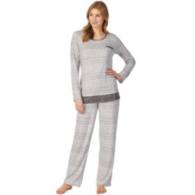 Cuddl Duds 2-Piece Long Sleeve Pajama Set (Assorted Colors)