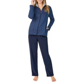 Cuddl Duds Fleece Jacket Lounge Set