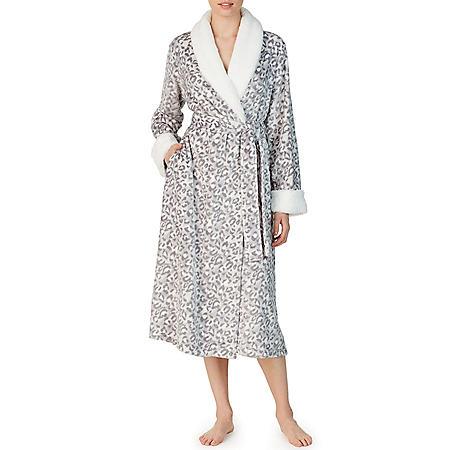 Anne Klein Long Sleeve Plush Wrap Robe