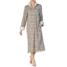 Anne Klein Long Sleeve Zip Plush Robe