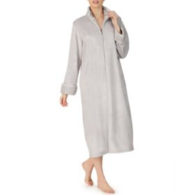Anne Klein Long Sleeve Zip Plush Robe