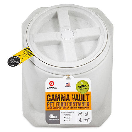 Gamma2 Vault Stackable 40 lb. Airtight Pet Food Container
