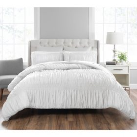 Nicole Miller 3-Piece Frances Comforter Set, White (Assorted Sizes)