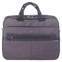 bugatti Harry Executive Briefcase, Nylon/Synthetic Leather, Gray