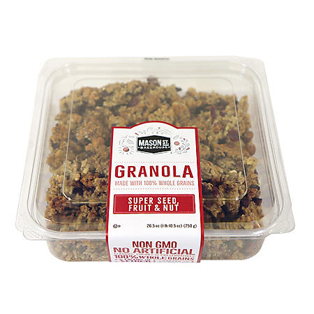 Mason St Bakehouse Super Seed, Fruit and Nut Granola (26.5 oz.)