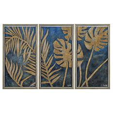 Renwil Golden Leaves Wall Art