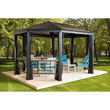 Sojag Komodo Sun Shelter with Fence, 12 x 18