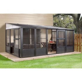 Sojag Charleston 10 x 13 Wall-Mounted Solarium