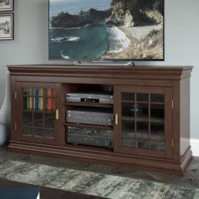 "Carson 60"" Wood Veneer TV / Component Bench"