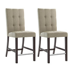 Bistro Platinum Beige Fabric Dining Chairs (2 pk)