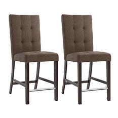 Bistro Chestnut Bark Brown Fabric Dining Chairs (2 pk)