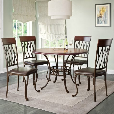 Jericho Dining Table and Chairs, 5-Piece Dining Set