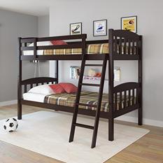 Apollo Dark Cappuccino Bunk Bed (Choose Size)