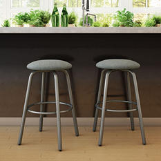Amisco Log Swivel Metal Stool