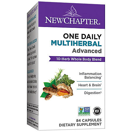 New Chapter One Daily Multiherbal Advanced, 10 Herb Blend with Turmeric & Ginger (84 ct.)