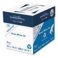 Hammermill - Great White Recycled Copy Paper, 92 Brightness, 20lb, 8-1/2 x 11 -  2500 Shts/Ctn