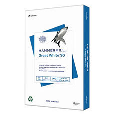 "Hammermill - Great White 30% Recycled Copy Paper, 20lb, 92 Bright, 11 X 17"" - Ream"