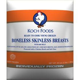 Koch Foods Boneless Skinless Breasts, Frozen (3 lbs.)