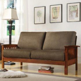 Calantha Microfiber Sofa - Olive
