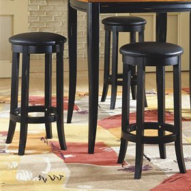 "Franklin 29"" Black Stools - 2 pk."
