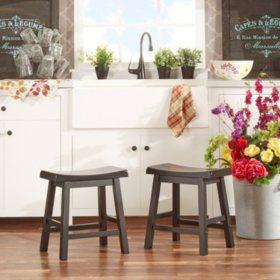 Enjoyable Alta 18 Saddle Stool 2 Pk Choose A Color Sams Club Machost Co Dining Chair Design Ideas Machostcouk