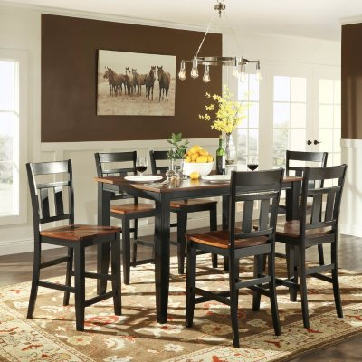 Caden Counter Height Dining Table And 6 Chairs Set Sam S Club