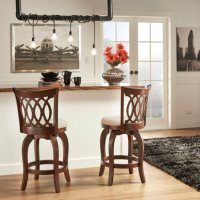 """Marion 24"""" Swivel Stool Scroll Back  (Choose a Color)"""