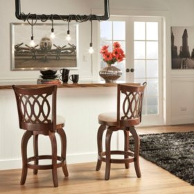 "Marion 24"" Swivel Stool Scroll Back  (Choose a Color)"