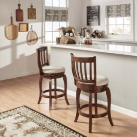 "Neva 24"" Swivel Chair Dark Grey Linen (Choose a Color)"