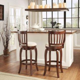 "Neva 29"" Swivel Chair Dark Grey Linen (Choose a Color)"
