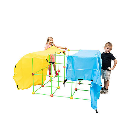 Funphix Fort 154-Pc. Supersized Glow-in-the-Dark Fort Building Set