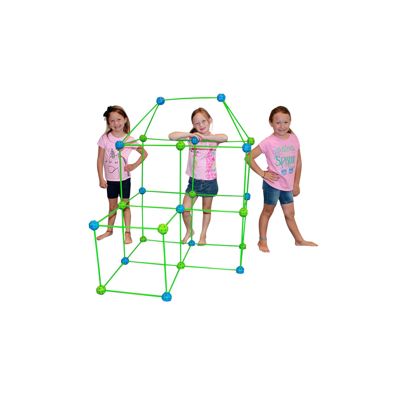 Funphix 77-Piece Fort Building Kit with Glow-in-the-Dark Sticks