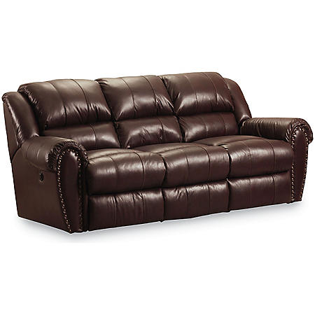 Groovy Lane Furniture Steve Double Reclining Top Grain Leather Power Sofa Beutiful Home Inspiration Truamahrainfo