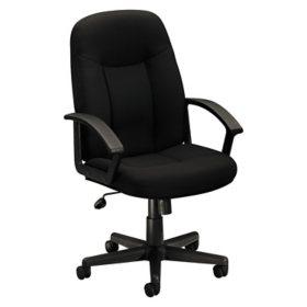 basyx by HON VL601 Fabric Mid- Back Swivel/Tilt Chair, Black