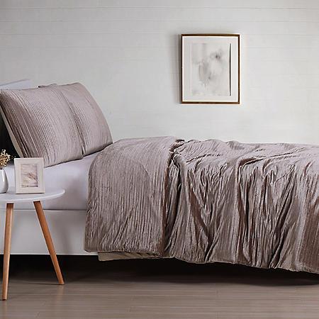 Christian Siriano New York Crinkle Velvet Comforter Set (Assorted Colors and Sizes)