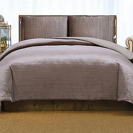 Christian Siriano New York Crinkle Velvet Duvet Set (Assorted Colors and Sizes)