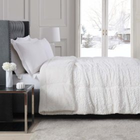 Christian Siriano Faux Fur Comforter (Assorted Sizes and Color Patterns)