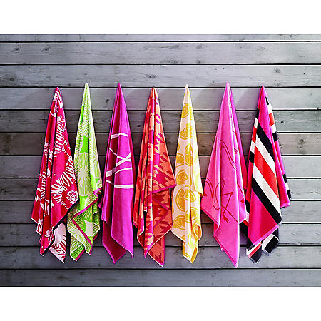 """Christian Siriano Oversized Jacquard Beach Towels, 40"""" x 72"""" (Assorted Styles)"""
