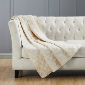 London Fog Double Diamond Throws (Various Colors)