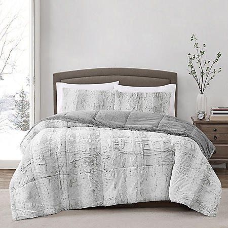 Christian Siriano New York Faux Fur 3pc Comforter Set (Assorted Sizes and Colors)