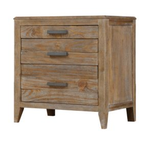 Torino Nightstand, Weathered Brown