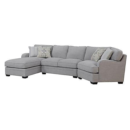 Analiese Sofa Sectional, Linen Gray